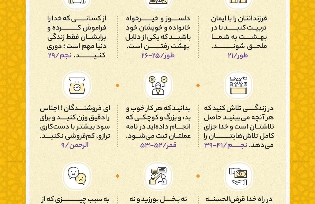 نکات کلیدی جزء بیست و هفتم قرآن کریم