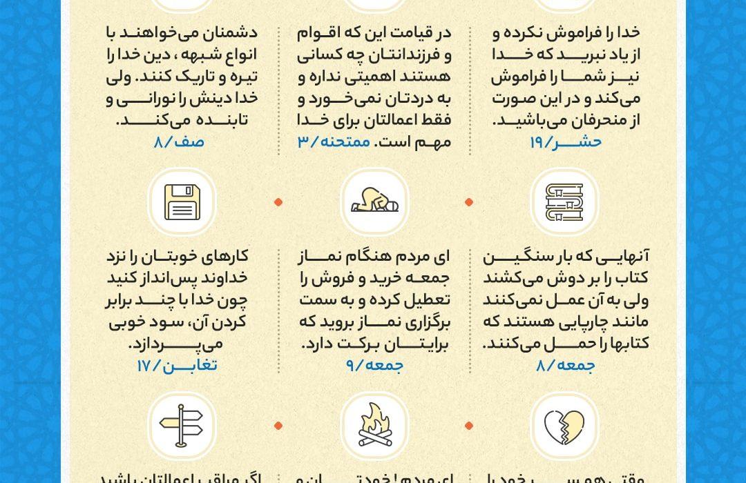 نکات کلیدی جزء بیست و هشتم قرآن کریم